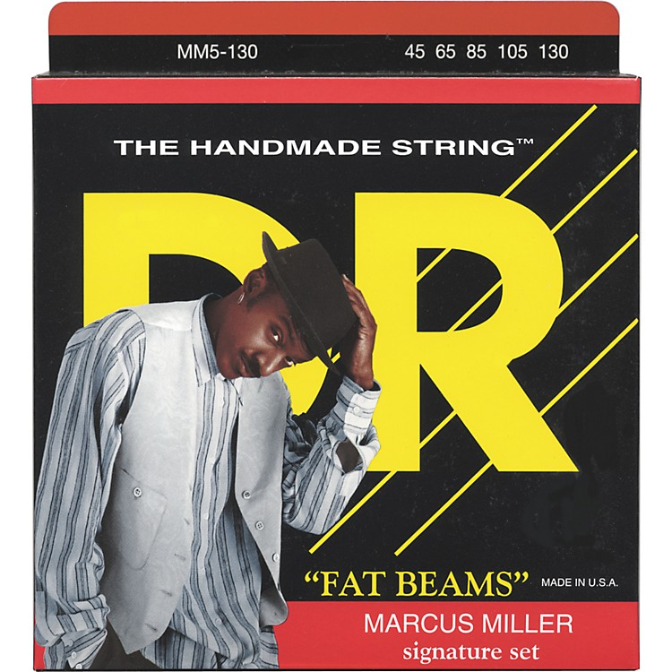 DR Strings Marcus Miller MM5-130 Fat Beams Lite 5-String Bass Strings .130 Low B