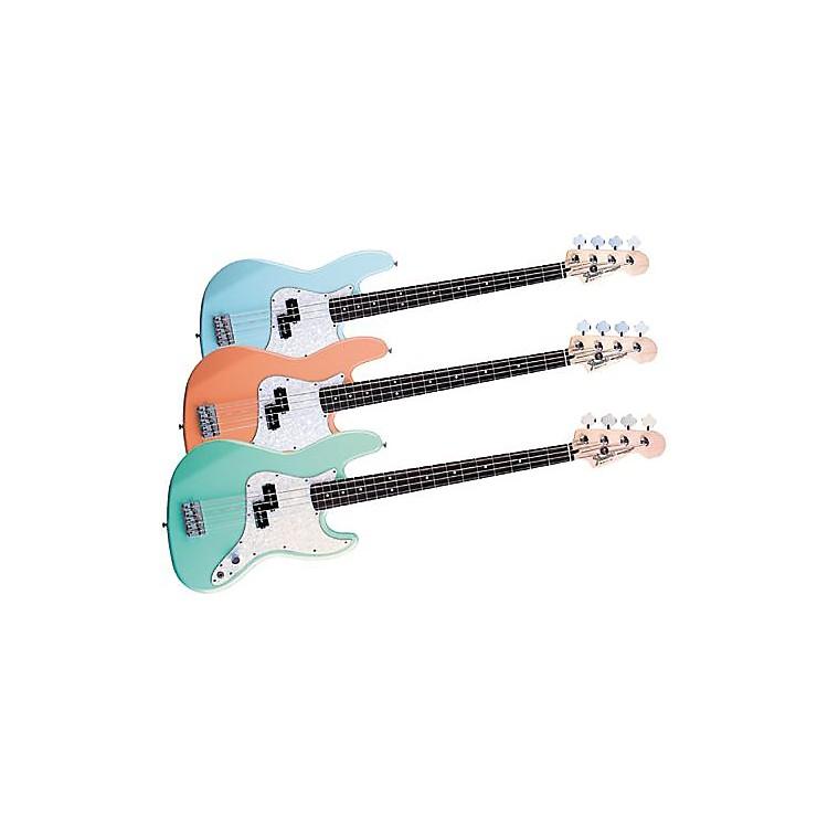 FenderMark Hoppus Signature Bass GuitarTransparent Teal Green