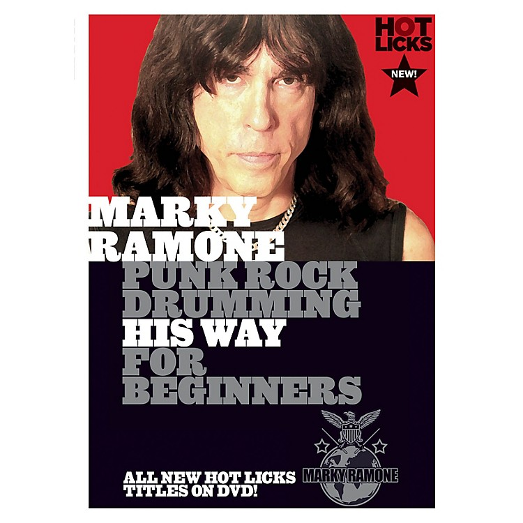 Music SalesMarky Ramone - Punk Rock Drumming His Way for Beginners Music Sales America Series DVD by Marky Ramone