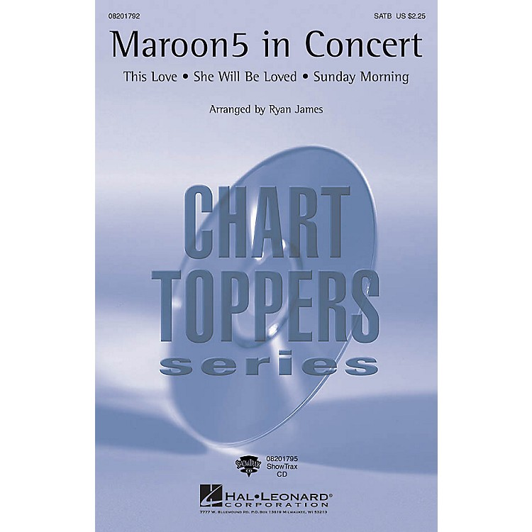 Hal LeonardMaroon 5 in Concert ShowTrax CD by Maroon 5 Arranged by Ryan James