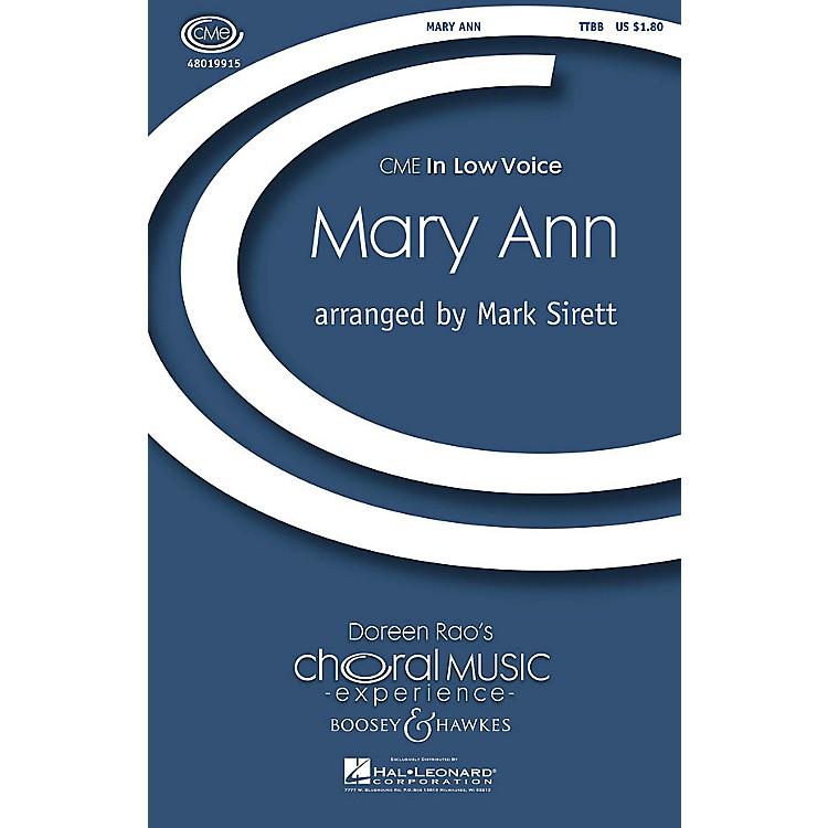 Boosey and HawkesMary Ann (CME In Low Voice) TTBB arranged by Mark Sirett