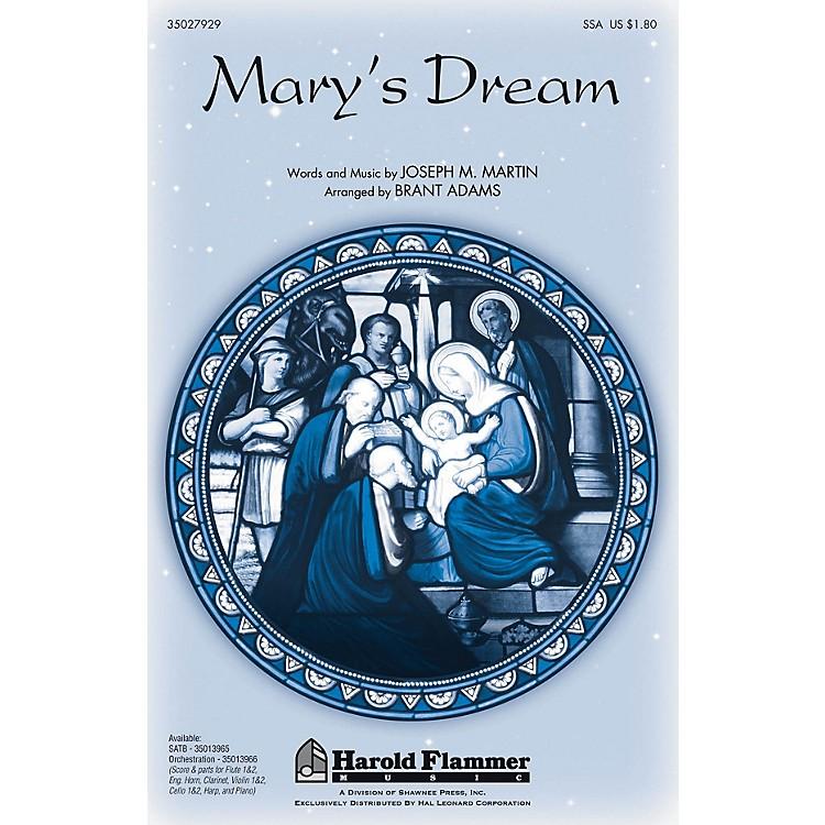 Shawnee PressMary's Dream INSTRUMENTAL ACCOMP PARTS Arranged by Brant Adams