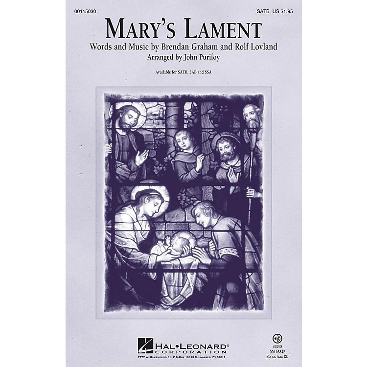 Hal LeonardMary's Lament SAB Arranged by John Purifoy
