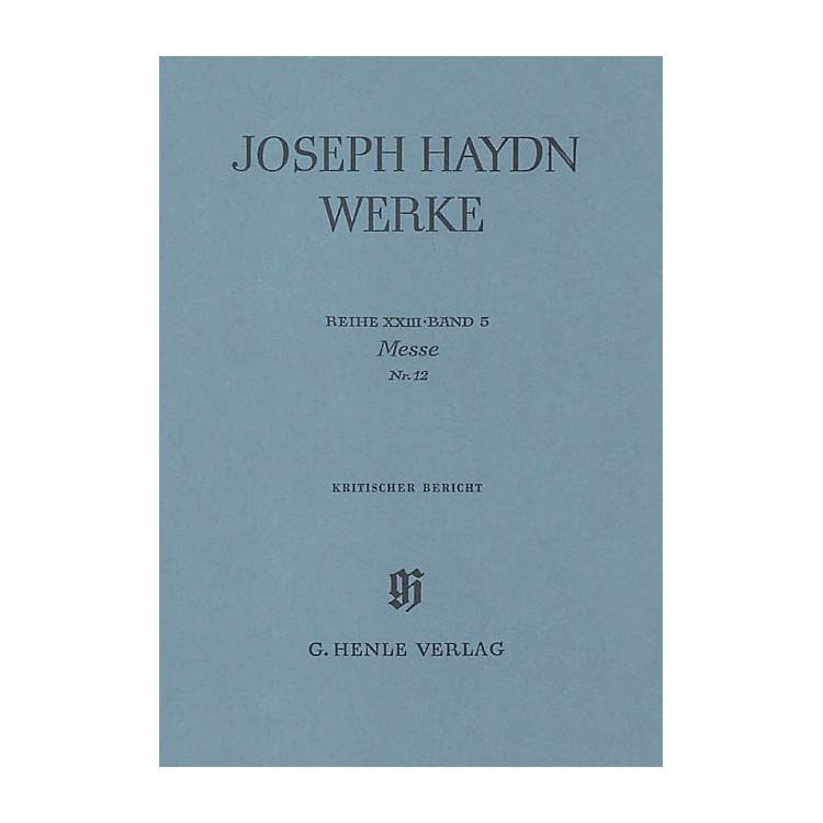 G. Henle VerlagMass No. 12 (Harmonie Mass) Henle Edition Series Hardcover