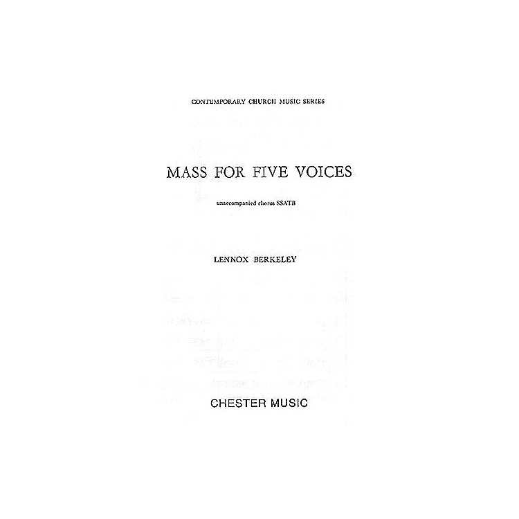 Chester MusicMass for Five Voices (Op.64) SSATB