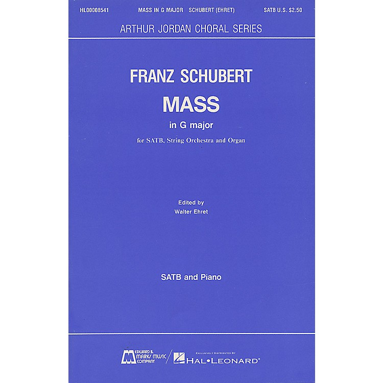 Edward B. Marks Music CompanyMass in G Major SATB composed by Franz Schubert