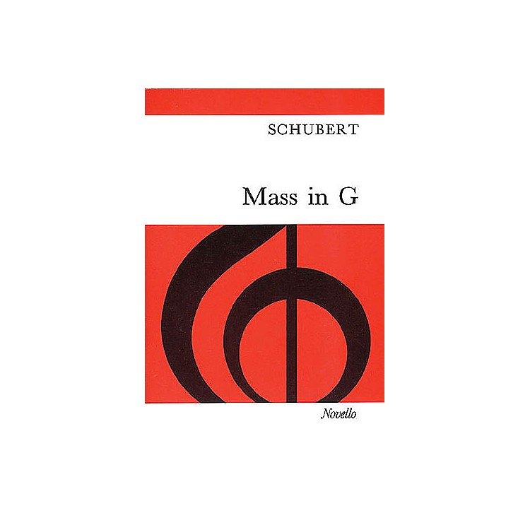 Novello Mass in G (Vocal Score) SATB Composed by Franz Schubert