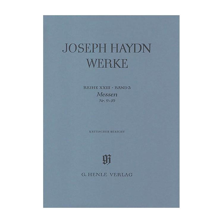 G. Henle VerlagMasses No 9 - 10series Xxiii Volume 3 Henle Edition Series Hardcover