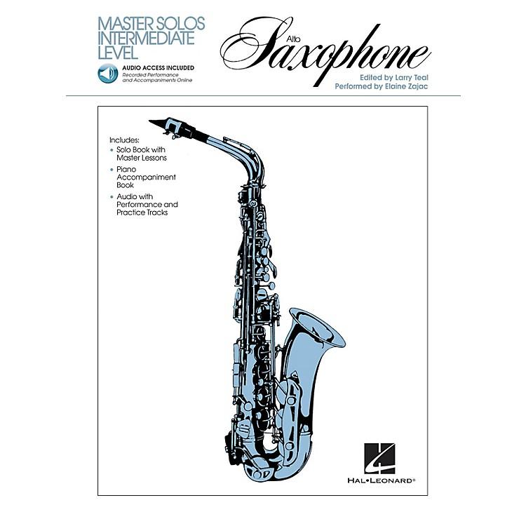 Hal LeonardMaster Solos Intermediate Level - Alto Sax (Book/Online Audio) Master Solos Series Book Audio Online