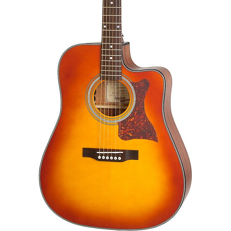 EpiphoneMasterbilt DR-400MCE Acoustic-Electric GuitarCherry Sunburst