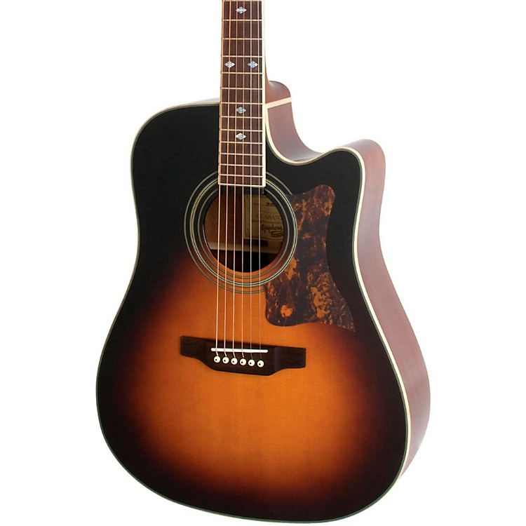 EpiphoneMasterbilt DR-500MCE Acoustic-Electric GuitarVintage Sunburst190839212566