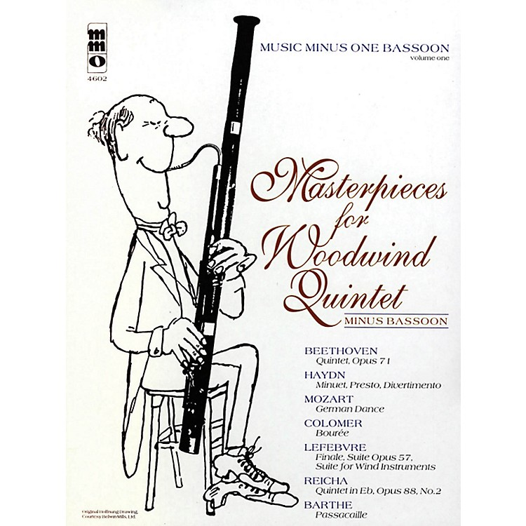 Music Minus OneMasterpieces for Woodwind Quintet - Volume 1 Music Minus One Series Softcover with CD Composed by Various