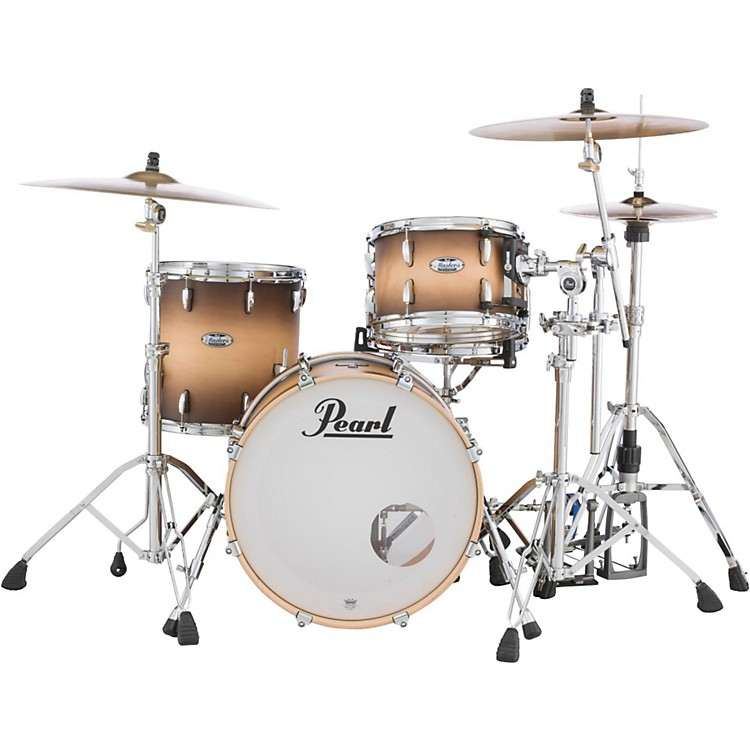 PearlMasters Maple Complete 3-Piece Shell PackSatin Natural Burst