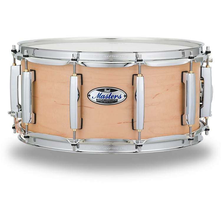 Pearl Masters Maple Complete Snare Drum 14 x 6.5 in. Matte Natural