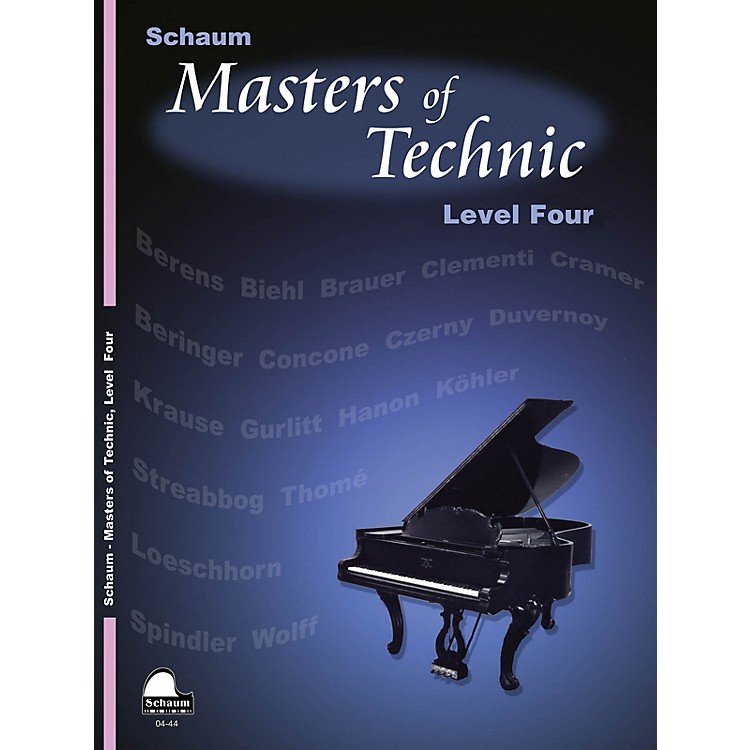 SCHAUM Masters Of Technic, Lev 4 Educational Piano Series Softcover