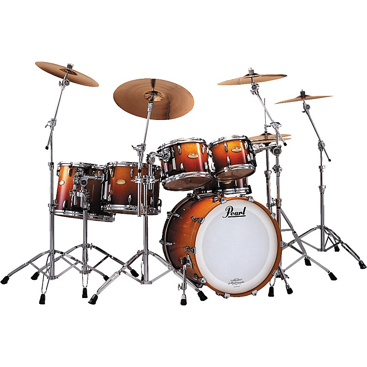 pearl masterworks limited edition 6 piece drumset music123. Black Bedroom Furniture Sets. Home Design Ideas