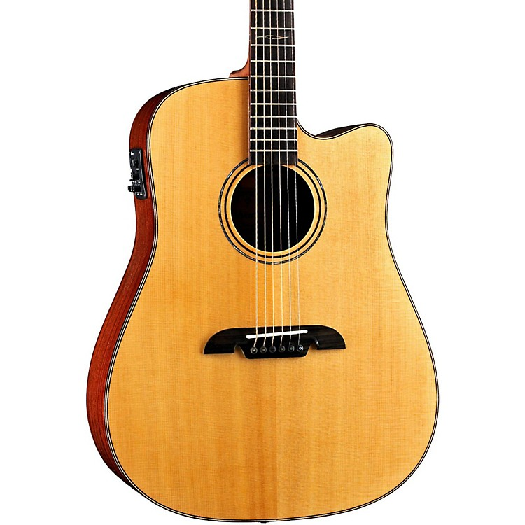 Alvarez Masterworks MD60CE Dreadnought, All-Solid Electric-Acoustic Guitar Natural