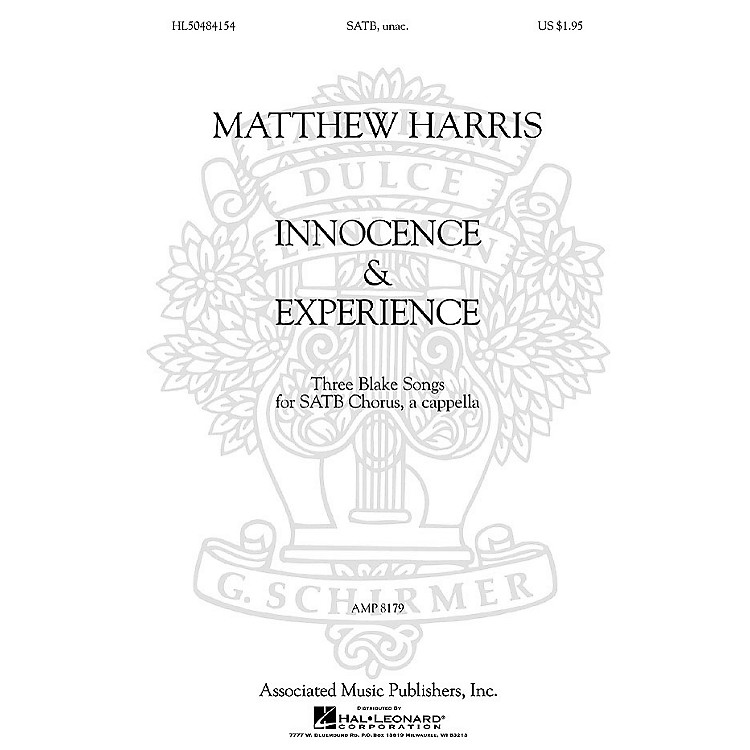 AssociatedMatthew Harris - Innocence & Experience (Three Blake Songs for SATB Chorus, a cappella) by Matthew Harris