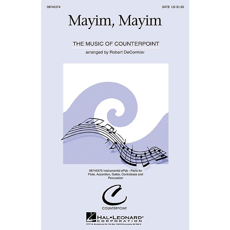 Hal LeonardMayim, Mayim SATB arranged by Robert DeCormier