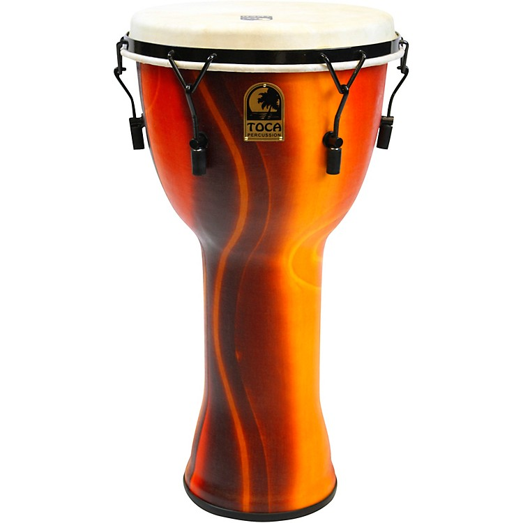 Toca Mechanically Tuned Djembe with Extended Rim 12 in. Black Mamba