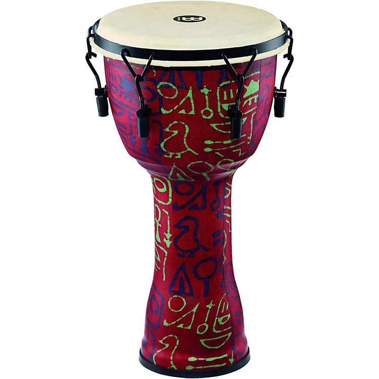 Meinl Mechanically Tuned Djembe with Synthetic Shell and Goat Skin Head 10 in. Pharaoh's Script