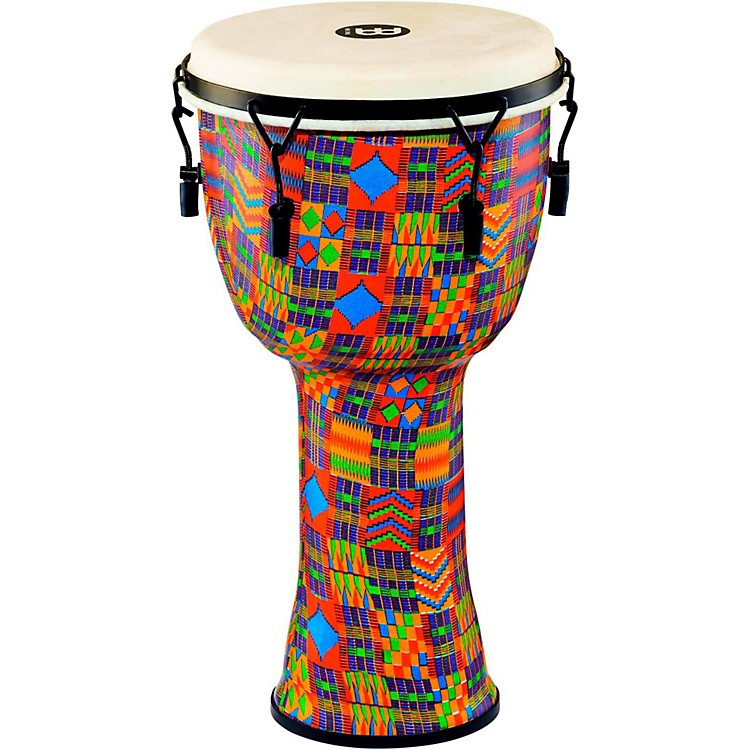 MeinlMechanically Tuned Djembe with Synthetic Shell and Goat Skin Head12 in.Kenyan Quilt