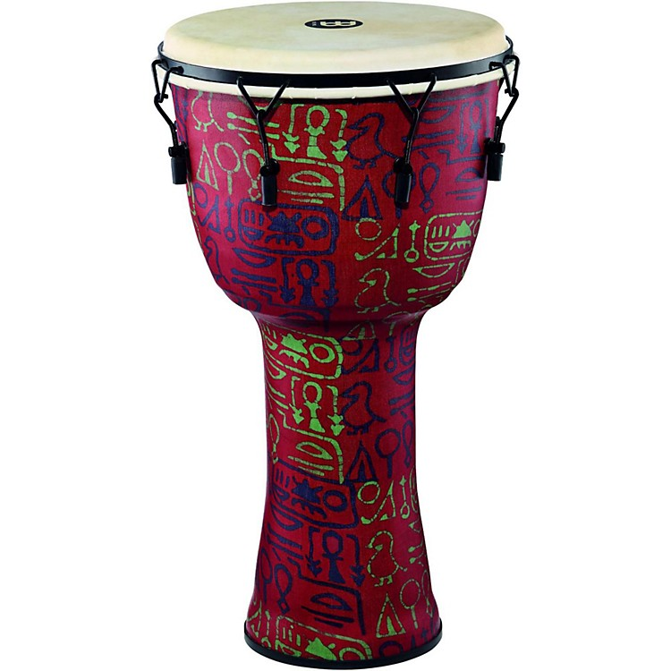 MeinlMechanically Tuned Djembe with Synthetic Shell and Goat Skin Head14 in.Pharaoh's Script