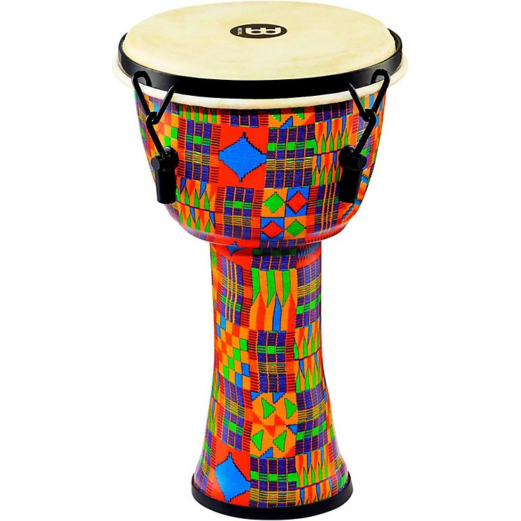 Meinl Mechanically Tuned Djembe with Synthetic Shell and Goat Skin Head 8 in. Kenyan Quilt
