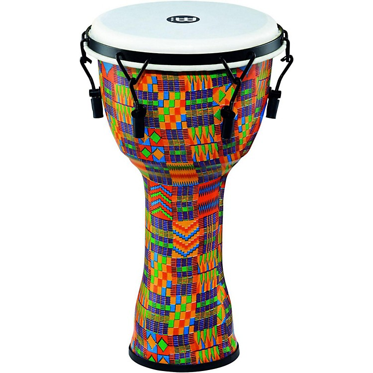 Meinl Mechanically Tuned Djembe with Synthetic Shell and Head 8 in. Kenyan Quilt