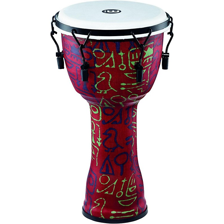 Meinl Mechanically Tuned Djembe with Synthetic Shell and Head 10 in. Pharaoh's Script