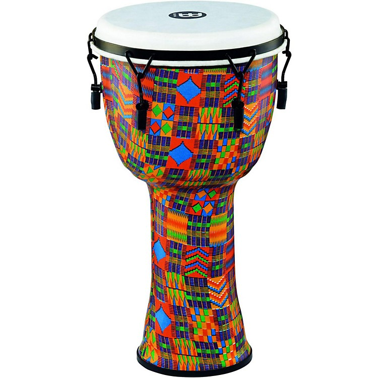 MeinlMechanically Tuned Djembe with Synthetic Shell and Head12 in.Kenyan Quilt