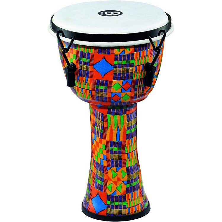 Meinl Mechanically Tuned Djembe with Synthetic Shell and Head 14 in. Kenyan Quilt