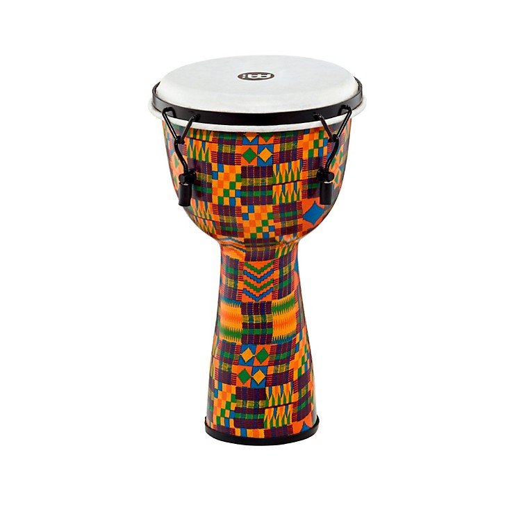 Meinl Mechanically Tuned Fiberglass Synthetic Head Djembe Kenyan Quilt 10 in.