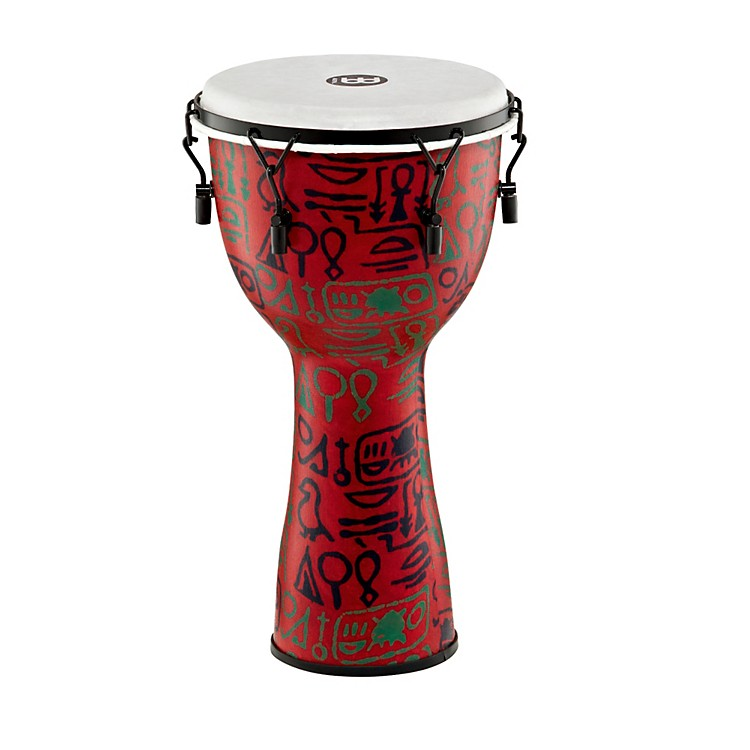 Meinl Mechanically Tuned Fiberglass Synthetic Head Djembe Black 12 in.