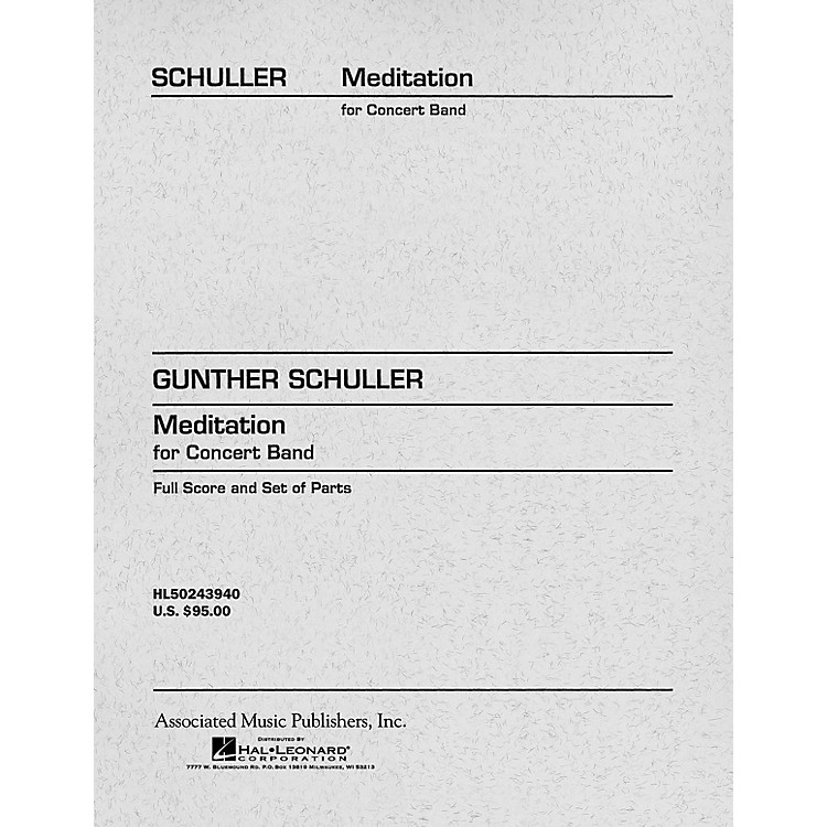 AssociatedMeditation for Concert Band (Score and Parts) Concert Band Level 4-5 Composed by Gunther Schuller