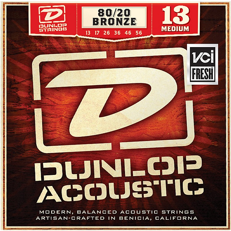 Dunlop Medium 80/20 Bronze Acoustic Guitar Strings