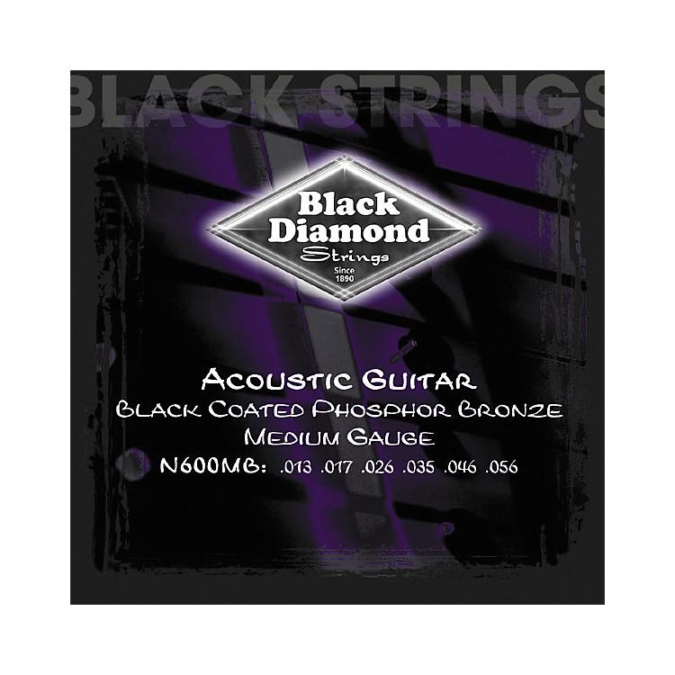 Black DiamondMedium Gauge Black Coated Phosphor Bronze Acoustic Guitar Strings