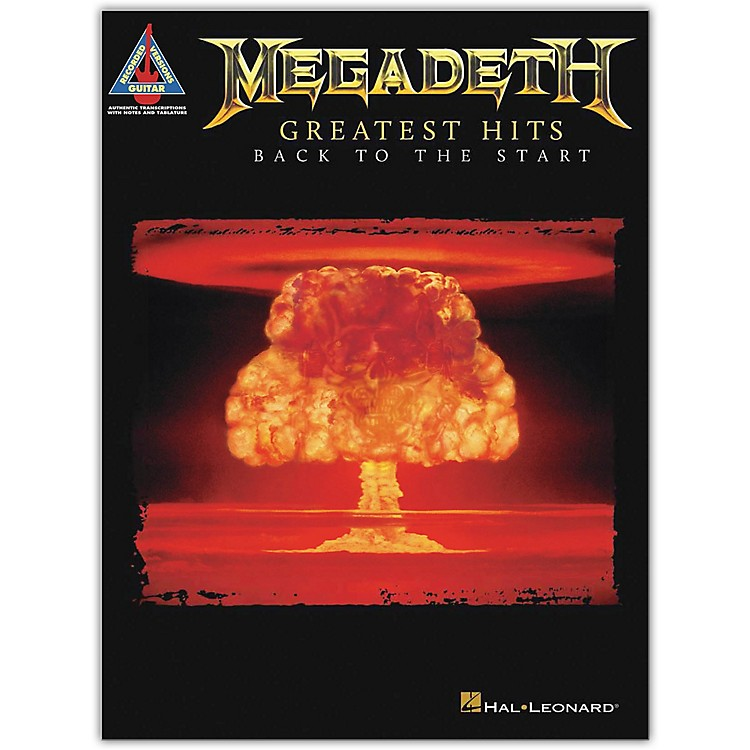 Hal LeonardMegadeth - Greatest Hits: Back to the Start Guitar Tab Songbook