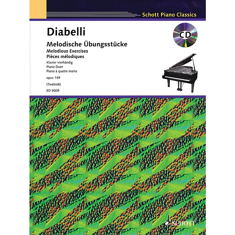 SchottMelodious Exercises, Op. 149 (With a CD of Piano Accompaniments) Schott Series Softcover with CD