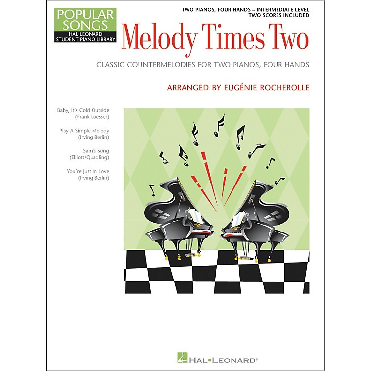 Hal LeonardMelody Times Two - 2 Piano, 4 Hands Intermediate Level Hal Leonard Student Piano Library by Rocherolle