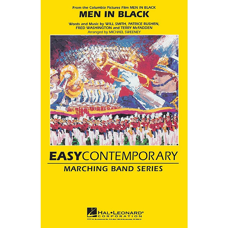 Hal LeonardMen in Black Marching Band Level 2-3 by Will Smith Arranged by Michael Sweeney