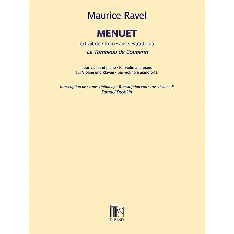 DurandMenuet from Le Tombeau de Couperin - Violin and Piano by Ravel
