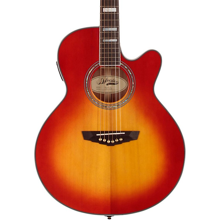 D'Angelico Mercer Grand Auditorium Cutaway Acoustic-Electric Guitar Cherry Sunburst
