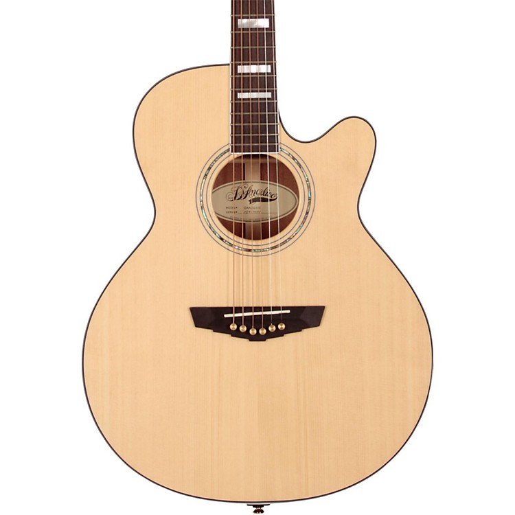 D'Angelico Mercer Grand Auditorium Cutaway Acoustic-Electric Guitar Natural 888365949307