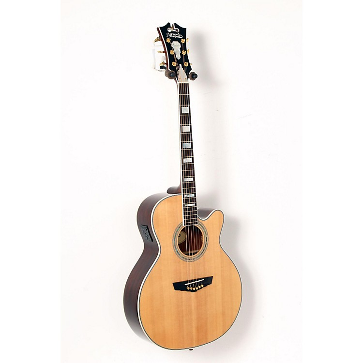 D'Angelico Mercer Grand Auditorium Cutaway Acoustic-Electric Guitar Natural 888365917689