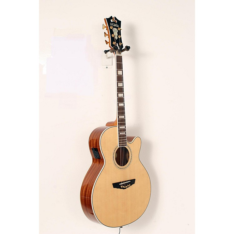 D'Angelico Mercer Grand Auditorium Cutaway Acoustic-Electric Guitar Natural 190839037916
