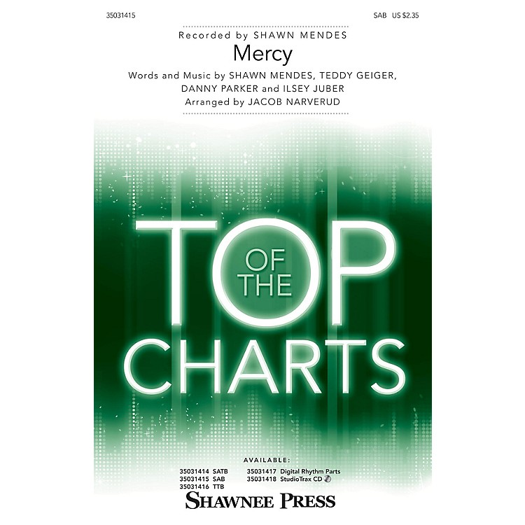 Shawnee Press Mercy SAB by Shawn Mendes arranged by Jacob Narverud