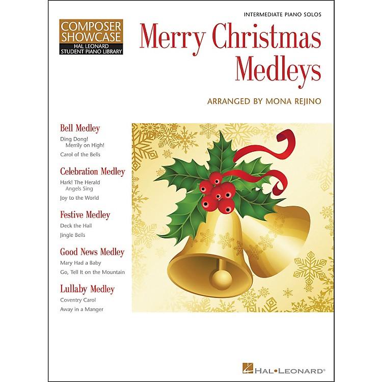 Hal LeonardMerry Christmas Medleys - Composer Showcase Intermediate Piano Solos Hal Leonard Student Piano Library by Mona Rejino