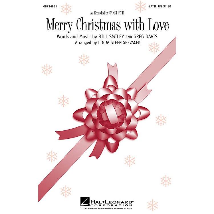 Hal LeonardMerry Christmas with Love SATB by Sandi Patti arranged by Linda Spevacek