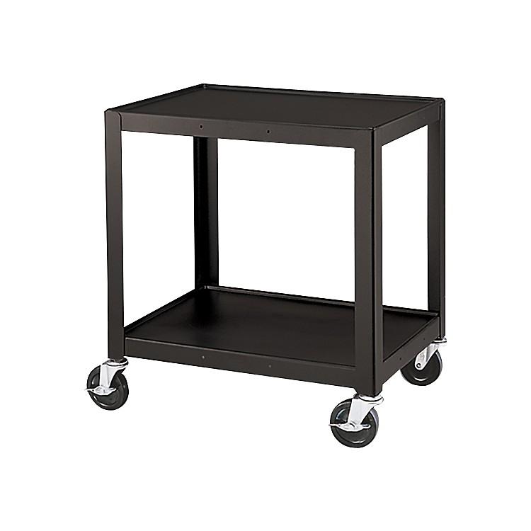H Wilson Metal 26 Quot 2 Shelf Cart Black Music123